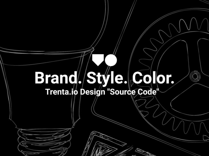 "Trenta.io - Design ""Source Code"" illustration macos typography vector style guide icon design branding web design ux ui trenta os rainierui linux icons desktop open source"