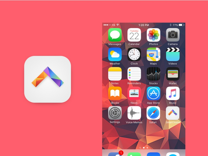 Daily Ui #05. App icon design ui smarhouse house home appicon icon dailyui