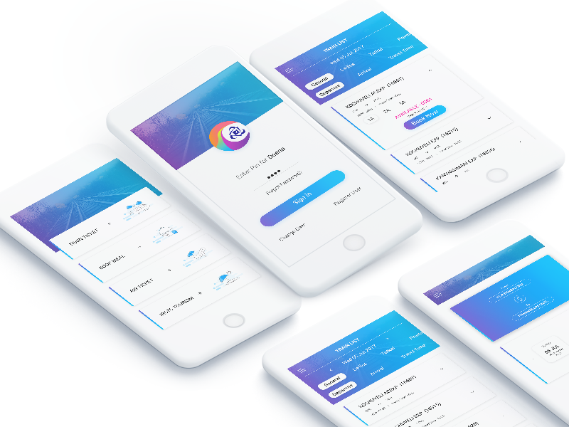Indian Railway App Redesign Concept by Deena Babu on Dribbble