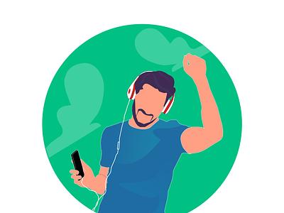 Music web design vector illustration