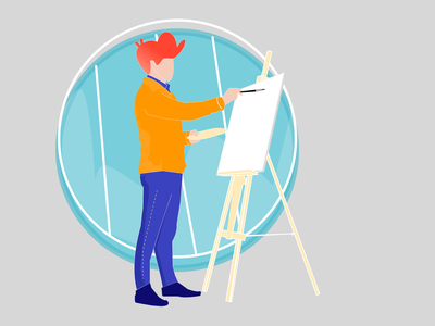 Artist Creative branding illustrator design vector illustration