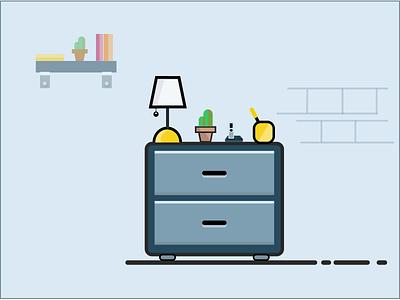 Side Cabinet Living Room illustration
