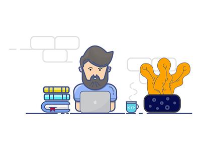 Workstation   Ui Developer illustration