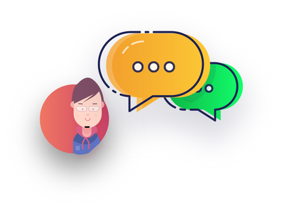 Design   Colorful Comment With Avatar comments illustrator