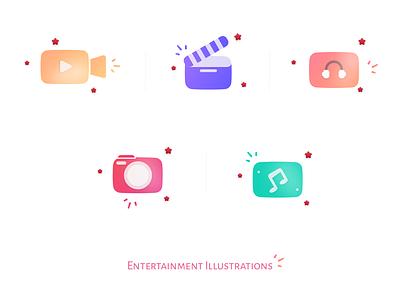 Entertainment Icons icon design illustrator