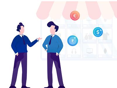 Ecommerce Business branding web vector design illustrator