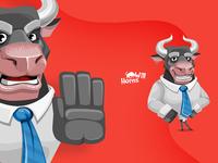 Will Horns - Bull Cartoon Character