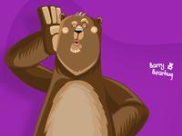 Barry Bearhug - Bear Cartoon Character
