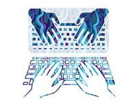 Digital world illustration