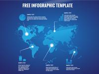Free Worldmap Infographic Template