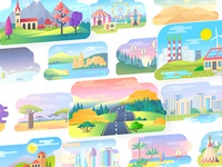 Colorful Cartoon Backgrounds