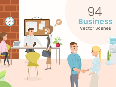 Business Vector Scenes Illustration Bundle