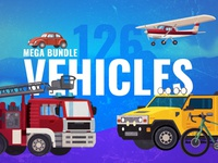 Vector Vehicle Graphics Mega Bundle
