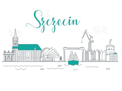 Szczecin /Cityscape series street view cityscape town ship harbor shipyard szczecin
