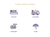 Service icons for carpet manufacturer