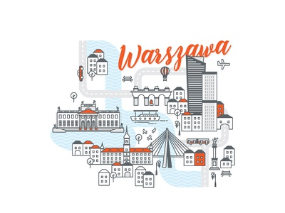 Polish cities serie// Warsaw skyscrapers urban bridge cityscape city vistula royal castle poland warsaw