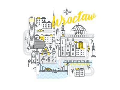 Polish cities serie// Wrocław cityscape monument church bridge river odra wroclaw