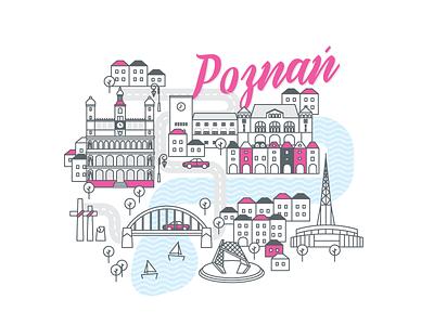 Polish cities serie// Poznań lake castle bridge city cityscape poznański poznań