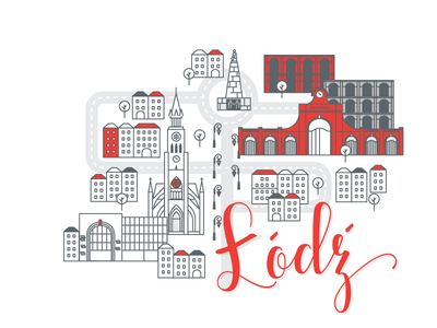 Polish cities serie// Lodz citymap map buildings piotrkowska cityscape manufacture łódź lodz