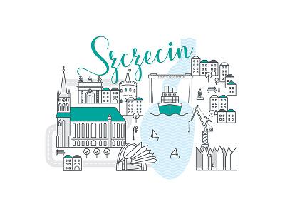 Polish cities serie// Szczecin ship shipyard city cityscape baltic sea szczecin