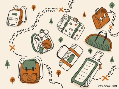 Travel Light! path forest scout holidays nature journey travel bag