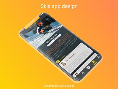Skis app design application appdesign uiux