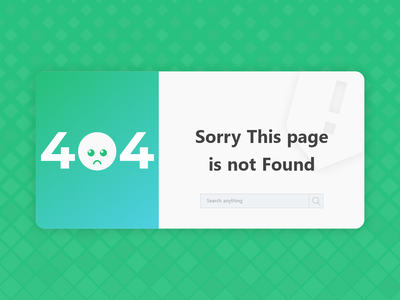 404 Page adobe xd 404 page web design website