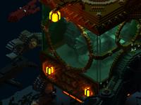 Steampunk mechanical leviathan