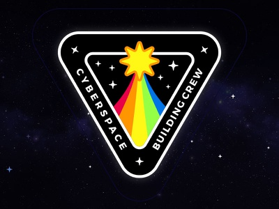 Cyberspace Building Crew Mission Patch cyberspace building crew mission patch