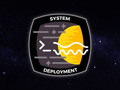 System Deployment Mission Patch cyberspace building crew mission patch