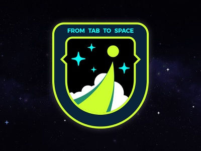 From Tab To Space Mission Patch cyberspace building crew mission patch