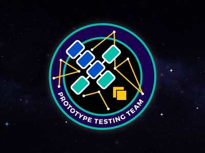 Prototype Testing Team Mission Patch cyberspace building crew mission patch