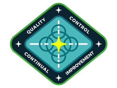 Quality Mission Patch cyberspace building crew mission patch