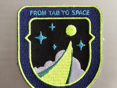 From Tab To Space nasa patch mission cyberspace building crew