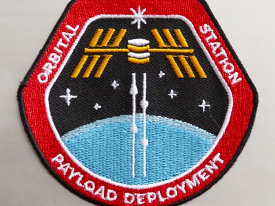 Orbital Station nasa patch mission cyberspace building crew