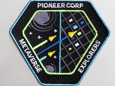 Metaverse Explorers nasa patch mission cyberspace building crew