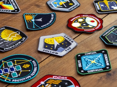 Cyberspace Building Crew Patches illustration nasa patch mission cyberspace building crew
