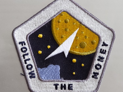 Follow The Money Sales Patch nasa patch mission cyberspace building crew