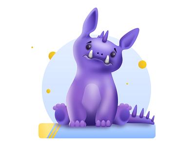 Dragon monster dragon vector illustration kids illustration gradient character design illustration