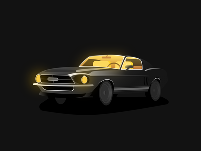 Shelby light gradient shelby mustang car graphic design illustration