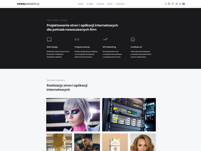 Paweł Mansfeld Portfolio web development website web design