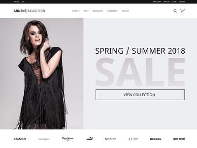Anneke Selection | E-commerce header hero responsive prestashop e-commerce webdesign