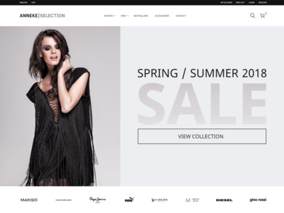 Anneke Selection | E-commerce header hero responsive prestashop e-commerce webdesign
