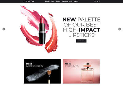 Cleopatra PrestaShop Template prestashop e-commerce web development web design