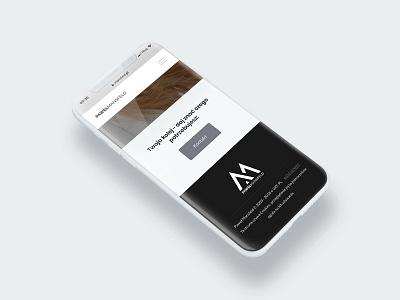 Pawel Mansfeld - Mobile HomePage black  white mobile iphone x responsive web design amp web design