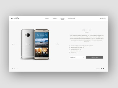 Maze E-commerce Design Concept minimal mobile store woocommerce magento prestashop ecommerce