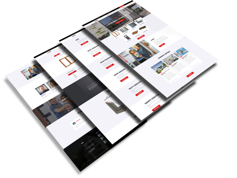 Profiler - WordPress website wordpress black  white web development web design