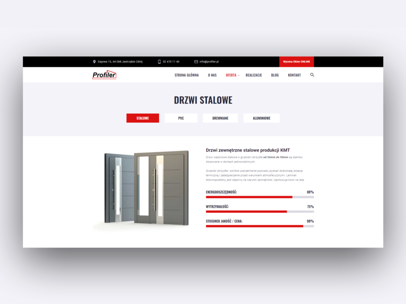 Profiler - WordPress Website Product Page wordpress poland clean web development web design