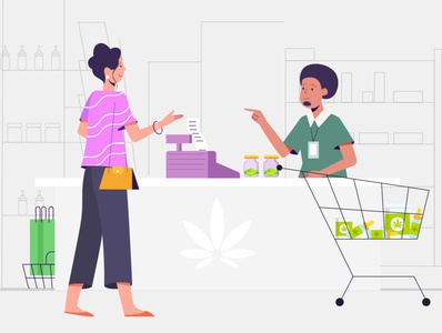 marijuana store illustration !