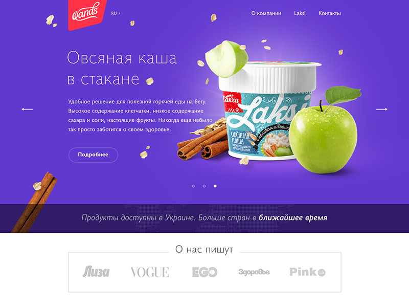 Oands_home_page page website clean visual logo design graphic ux ui web-design
